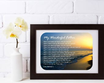 Personalised Dad Framed Poem - I Turn To You