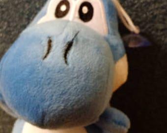 5 inch Super Mario Blue Yoshi Plush Doll
