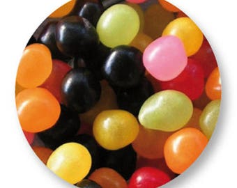 1 cabochon jelly beans metal 25mm