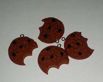X 1 chocolate polymer clay Chocolate Chip Cookie