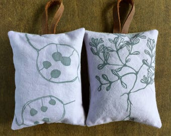 Lavender Sachets, Set of 2, Sachet Pillows, Drawer Sachets, Car Freshener, Gifts Under 20
