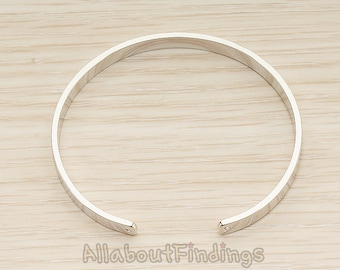 BSC284-R // Glossy Orignal Rhdium Bangle, 1 Pc