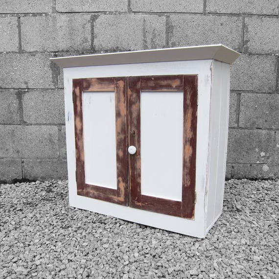 Victorian Pine Painted Wall Cupboard