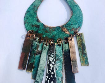 Multi Patina Indie Mixed Metal Necklace