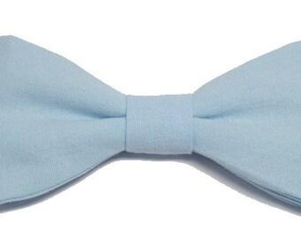 Sky blue bowtie with straight edges