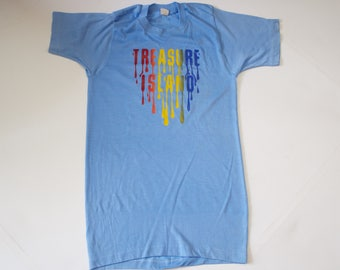 Vintage 1970s Treasure Island T Shirt  Small