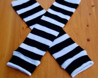 Baby Leg Warmers - Crawlers Covers - Black and White Striped Baby Leggings - Baby Shower Gift - Baby Boy Leggings - Baby Girl Leggings