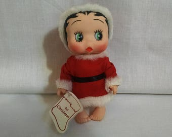 Vintage Betty Boop Doll, First Christmas, Christmas Betty Boop