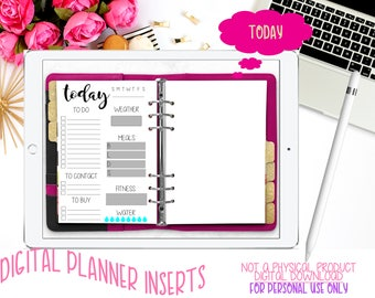 Digital Planner Inserts | Today | Goodnotes Planner | iPad | iPhone | Tablet Planning