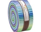 Kaufman Kona Cotton Sunset Color Jelly Roll 43 2.5X44-Inch Strips