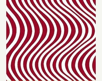Anniversary Sale Liberty ~Wavy Red, Cotton Fabric Patriotic,Windham Fabrics, Fast Shipping M212