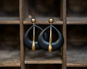 Vintage JUMBO large dangle earrings