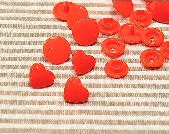 Summer Sale Came snaps heart Red 10 1, 2cm