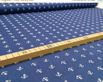 "Summer Sale Nooteboom BW fabric ""Mini anchor"" blue"
