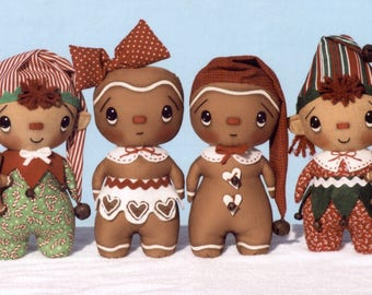 Primitive PATTERN Gingerbread Buddies