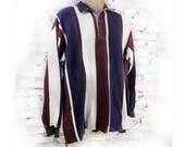men's knit shirt, collared knit shirt, long sleeve shirt, color block knit shirt -polo shirt, size XL ( Extra large),   # 238