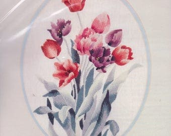 Tulips crewel embroidery kit