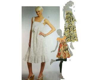 """Women's Empire Waist Jumper and Dress Sewing Pattern Misses Size 14, 16, 18, 20 Bust 36, 38, 40, 42"""" Easy McCall's M5377"""