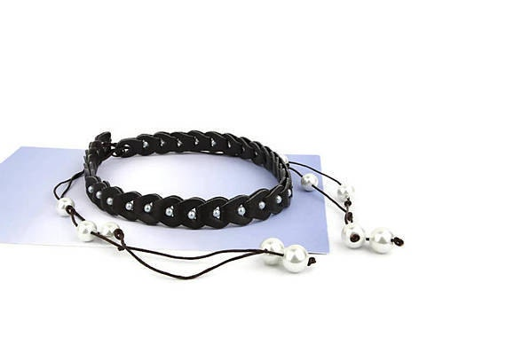 gunadesign recycled leather choker