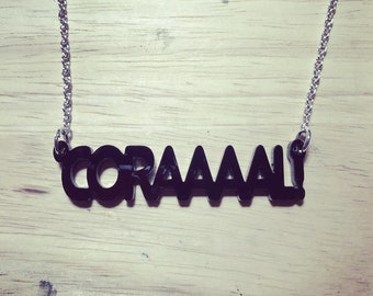 Walking Dead Inspired Coraaal! Acrylic Necklace