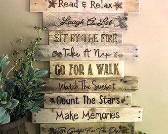 Lake House Rules Sign/Wood Sign/Lake Life/Rustic Lake Sign/Lake House Decor/Lake Rules/Cabin Decor/Inspirational Decor/Handmade Lake Sign