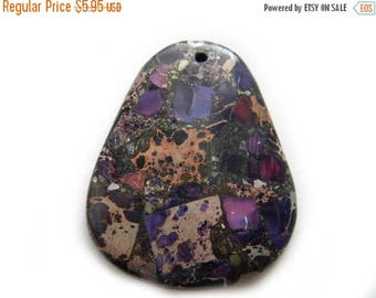 HALF PRICE Purple Matrix Focal Bead - Statement Bead
