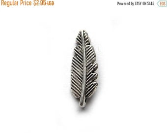 HALF PRICE 10 Silver Feather Charms