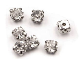 10 crystals set 5 mm clear white
