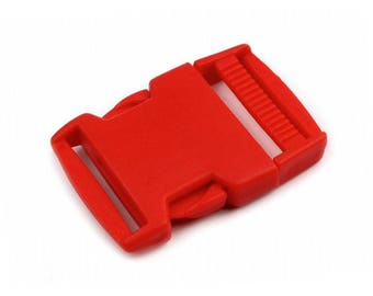 2 clip 30 mm red strap