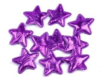 5 purple metallic star 305 mm