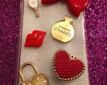 Red and Gold Bling Phone Case