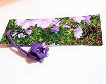 Purple flower photo bookmark