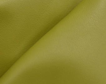 "Gallant Olive Green ""Signature""  Leather Cow Hide 8"" x 10"" Pre-cut 2-3 oz flat grain DE-61628 (Sec. 8,Shelf 3,C)"