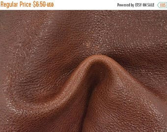 "NZ Deer Sale Toasted Umber Leather New Zealand Deer Hide 8"" x 10"" Project Piece 4-4 1/2 oz TA-56756 (Sec. 3,Shelf 3,D)"