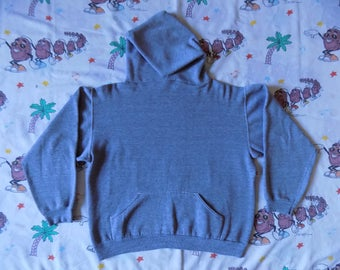 Vintage 70's Gray Russell Athletic Gold Label pullover Hooded Sweatshirt, size M/L rayon tri-blend