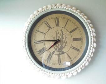 RESERVED FOR SUZANNE-Seashell Wall Clock-Clock With Seashells-Beach Clock-Seashell Art-Unique Shell Clock