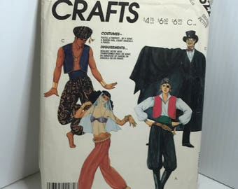 D145 McCall's 2622, costume, sewing pattern, pirate, genie, harem girl,count Dracula, adult size small  uncut