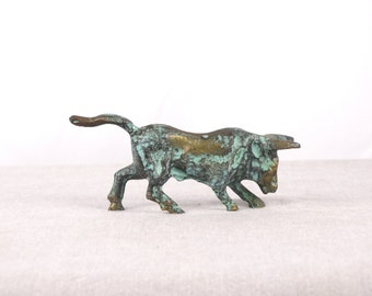 Bull Statue, Bull Figurine, Brass Sculpture, Animal Figurine, Brass Statue, Bull Art, Minoan Bull, Animal Statue, Minoan Art, Bull, Minoan