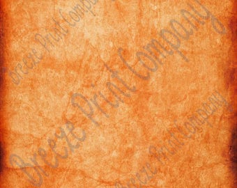 Orange distressed pattern printed craft  vinyl sheet - HTV or Adhesive Vinyl -  antiqued vintage grunge HTV4709
