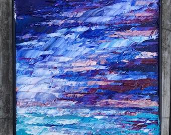 Stormy Waters #1 - Mini Impasto Landscape