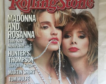 Vintage Rolling Stone magazine Madonna and Rosanna Issue 447 May 9, 1985