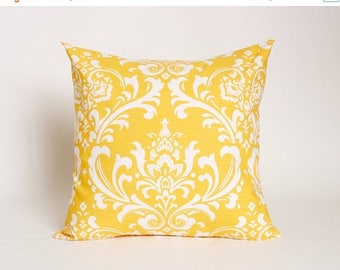 On Sale July Only Corn Yellow Pillow Cover Premier Prints Ozborne Pattern Designed to fit 16, 18, 20 or 22 Inch Standard Inserts