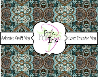 Beautiful Paisley Patterned Craft Vinyl and Heat Transfer Vinyl Pattern 689
