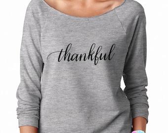 Thankful Shirt, Fall Shirt, Fall Shirt Women, Womens Shirt, Thankful Long Sleeve, Thankful Sweater, Thanksgiving Shirt Women, Thankful Women