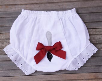 Alabama Roll Tide Bloomers, Elephant Tail Diaper Cover, Ruffled Diaper Cover