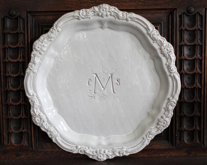 """15"""" Baroque Floral Platter"""