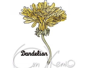 MACHINE EMBROIDERY DESIGN - Dandelion