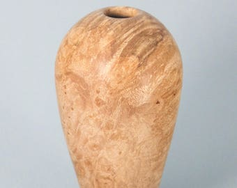 Hollow form turned from Maple Burl