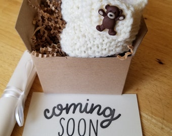 Pregnancy Announcement, Baby booties, Reveal Booties, Crochet Baby boots, Pregnancy reveal, READY to SHIP