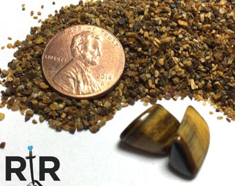 Crushed Tigers Eye - Medium Sand - 100% Natural Without Fillers